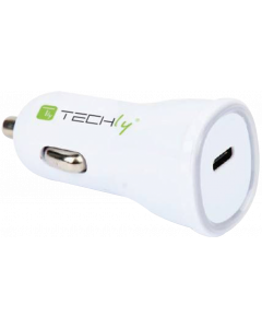 TECHLY CAR CHARGER USB TYPE C ITH OUTPUT 5V / 3A WHITE