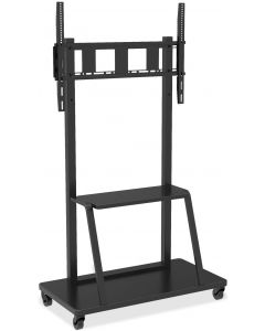 "TECHLY TROLLEY FLOOR STAND/SUPPORT 55-100"" WITH 1 SHELF"
