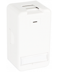 KEYSTONE SURFACE MOUNTED BOX - 1 PORT UTP - WHITE - NK4022