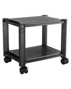 TECHLY HEIGHT-ADJUSTABLE SMART CART WITH 2 SHELVES