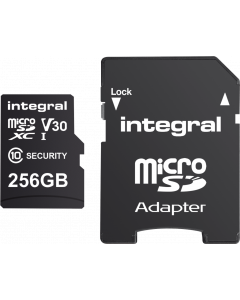 INTEGRAL SECURITY MICROSDHC/XC CARD 256GB FOR CAMERA