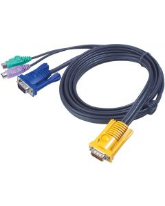 ATEN USB KVM CABLE WITH 3 IN 1 SPHD AND BUILT-IN PS/2 TO-3M