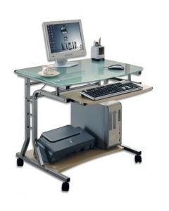 COMPUTER DESK COMPACT WITH KEYBOARD DRAWER