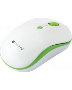 TECHLY WIRELESS MOUSE 2.4 GHZ WHITE / GREEN