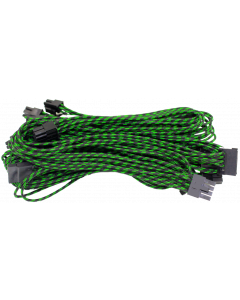 ALANTIK GREEN/BLACK MODULAR CABLES SET FOR POWER SUPPLY