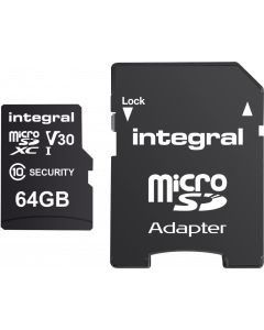 INTEGRAL SECURITY MICROSDHC/XC CARD 64GB FOR CAMERA
