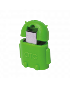 LOGILINK MINI MICRO USB B/M TO USB A/F OTG ADAPTER, GREEN