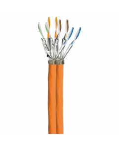 S/FTP LSOH CAT7A 1000MHz CABLE 100M, DUPLEX, ORANGE