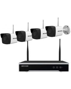 HIKVISION WIFI KIT: 4x 2 MEGAPIXEL BULLET WIFI CAMERA + 4-CHANNEL WIFI NVR