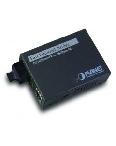 PLANET 10/100TX-100BASE FX SC SM BRIDGE FIBER CONVERTER 15KM