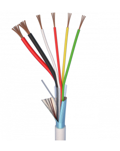 ALARM CABLE 100M 2x0,75+4x0,22 - PVC WHITE INDOOR - CPR EN50