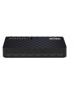 WITEK 8X FAST ETHERNET SWITCH WITH PLASTIC CASE