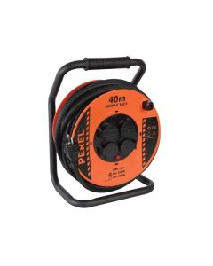 PROFESSIONAL NEOPRENE CABLE REEL 40M 3G2.5 - 4 SOCKETS