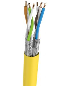 BKT S/FTP LSOH CAT7 YELLOW 23AWG 500M FULL COPPER ECA