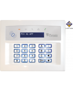 PYRONIX LCD KEYPAD WITH PROXY READER - WHITE