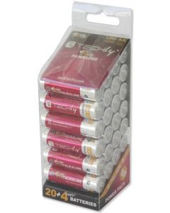 TECHLY AA ALKALINE PLUS BATTERIES 24PCS.