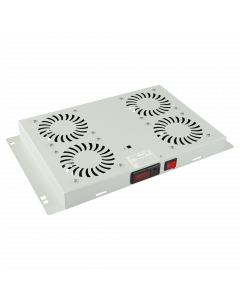 LOGON 4 FANS, DIGITAL THERMOSTAT CONTROLLED FAN MODULE WHITE