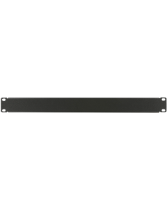 "LOGON 1U 19"" SCREW TYPE BLANK PANEL BLACK"
