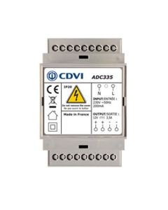 CDVI DIN RAIL 5,5A, 12VDC SWITCHING POWER SUPPLY
