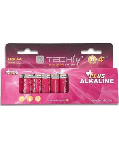 TECHLY AA ALKALINE PLUS BATTERIES LR06 12PCS