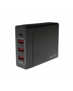 LOGILINK TABLE CHARGER, 3X USB AF + 1XUSB-C F, 72W