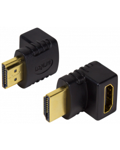 LOGILINK HDMI GENDER ADAPTER MALE TO FEMALE ANGLED UP