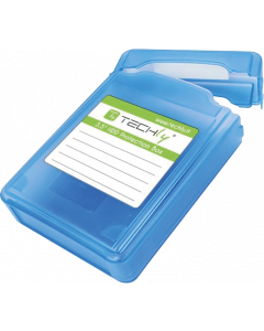"TECHLY PROTECTIVE BOX FOR 1x 3.5"" HDD BLUE"