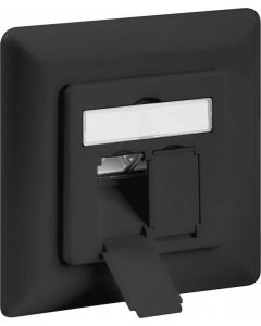CAT6A WALL PLATE FLUSH MOUNTING, ANTHRACITE