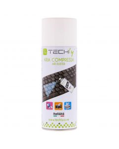 TECHLY AIR-DUSTER/COMPRESSED CLEANING SPRAY 400ML