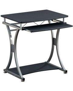 TECHLY COMPACT DESK FOR PC WITH REMOVABLE TRAY, BLACK GRAPHI
