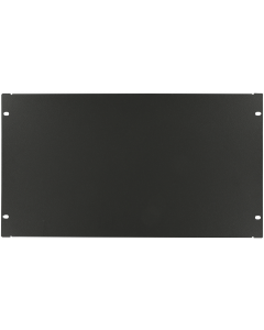 "LOGON 6U 19"" SCREW TYPE BLANK PANEL BLACK"