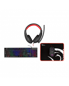 WHITE SHARK KEYBOARD+MOUSE+MOUSEPAD+HEADSET COMANCHE