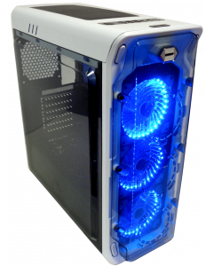 CORTEK GHOST GAMING PC CASE - BLUE LIGHT