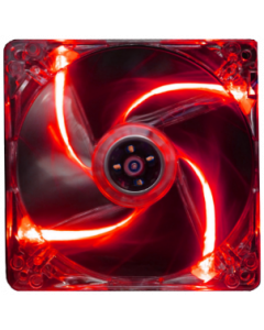 ALANTIK TRANSPARENT CASE FAN WITH RED LIGHT - 12CM
