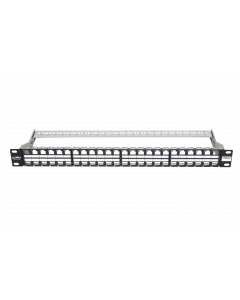 "BKT 19"" PATCH PANEL UNEQUIPPED 48xRJ45 SHIELDED"